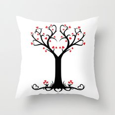 Heart Tree Love Design Throw Pillow