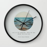 Swim The Sea Wall Clock