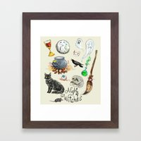 Night Of The Witches Framed Art Print