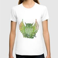 owl Womens Fitted Tee White SMALL