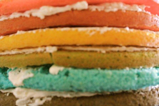 rainbow cake Art Print