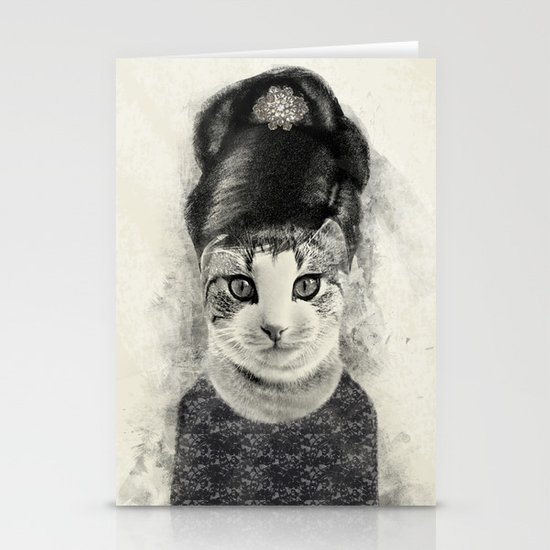 audrey cat Stationery Card