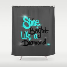 Diamonds Are A Girl's Bestfriend Shower Curtain