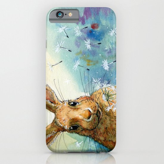 Funny rabbits - With Dandelions 548 iPhone & iPod Case