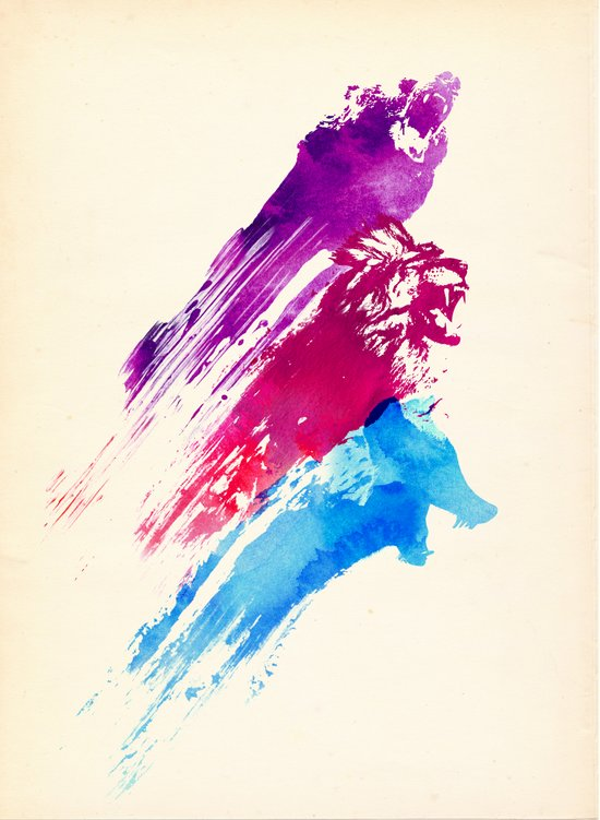 Wild colours Art Print