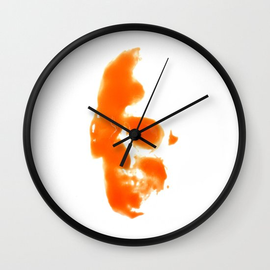 297. Hot Sauce Skull Wall Clock
