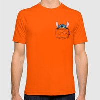 imPortable Stitch... Mens Fitted Tee Orange SMALL