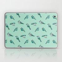 Doodle Birds - Mint Laptop & iPad Skin