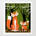 Two Fine Foxes Art Print