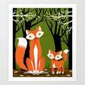 Two Fine Foxes Art Print