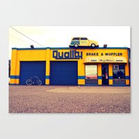 Canvas Print featuring Car on roof by Vorona Photography