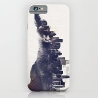 iPhone Cases featuring Fox from the City by Robert Farkas