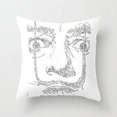 Salvador Dalì WordsPortrait Throw Pillow