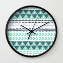 Winter Stripe Wall Clock