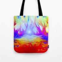 Flaming Forrest Tote Bag