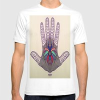 Hand Of Happiness  Mens Fitted Tee White SMALL