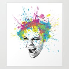 Colorful Scream Art Print