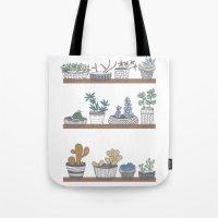 Quirky Succulents Tote Bag