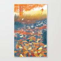 The Autumn's Melody Canvas Print