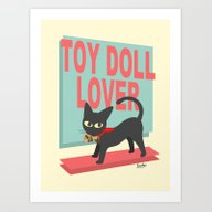 Art Print featuring Toy Doll Lover by BATKEI