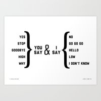Hello, Goodbye diagram Art Print