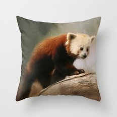 The Panda Red Throw Pillow