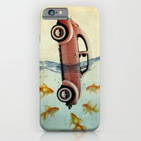 iPhone & iPod Case featuring VW beetle and goldfish by vin zzep