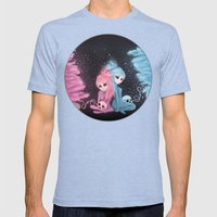 Intercosmic Christmas Mens Fitted Tee Tri-Blue SMALL