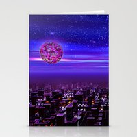 Spaceport Sunset Stationery Cards
