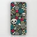 Skulls and flowers. iPhone & iPod Skin