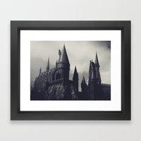 Ominous Castle Framed Art Print