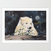 Polar Bear (night Hunt) Art Print
