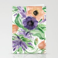 Spring Bouquet - Tulips & Anemones Stationery Cards