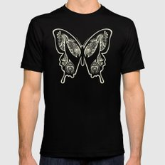 Henna Butterfly No. 1 Mens Fitted Tee Black SMALL