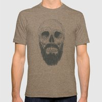 The Beard Is Not Dead Mens Fitted Tee Tri-Coffee SMALL