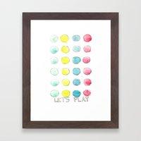 Let´s  play Framed Art Print