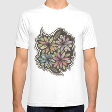 Floral Collage Mens Fitted Tee White SMALL