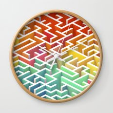 Labyrinth III Wall Clock