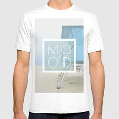 MOOD White Mens Fitted Tee SMALL