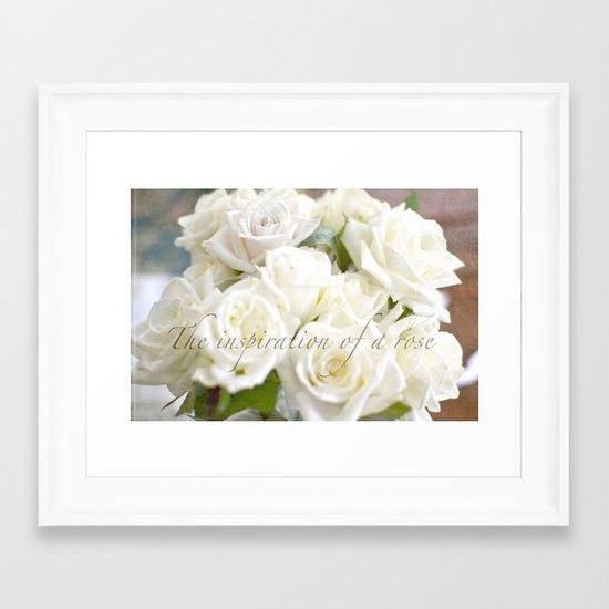 Rose Inspiration Framed Art Print