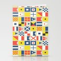 Geometric Nautical flag and pennant Stationery Cards