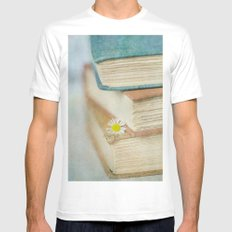 Read White Mens Fitted Tee SMALL
