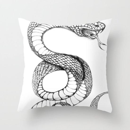 snake 02 Throw Pillow