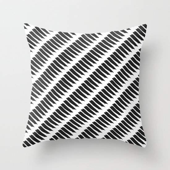 Black and white tiger stripes throw pillow by pencil me in - Tiger stripes black and white ...
