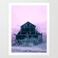 Infrared Barn Art Print