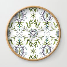 Nature's Damask Wall Clock