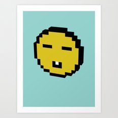 asian smiley Art Print