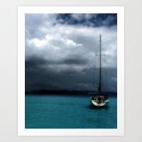Stormy Sails Art Print