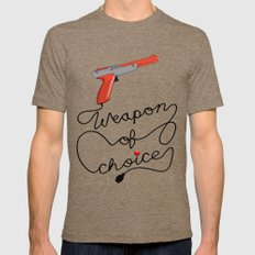 Weapon of Choice (2014 Revamped Version) Mens Fitted Tee Tri-Coffee SMALL