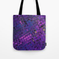 Blue Lilac Decorative Sq… Tote Bag
